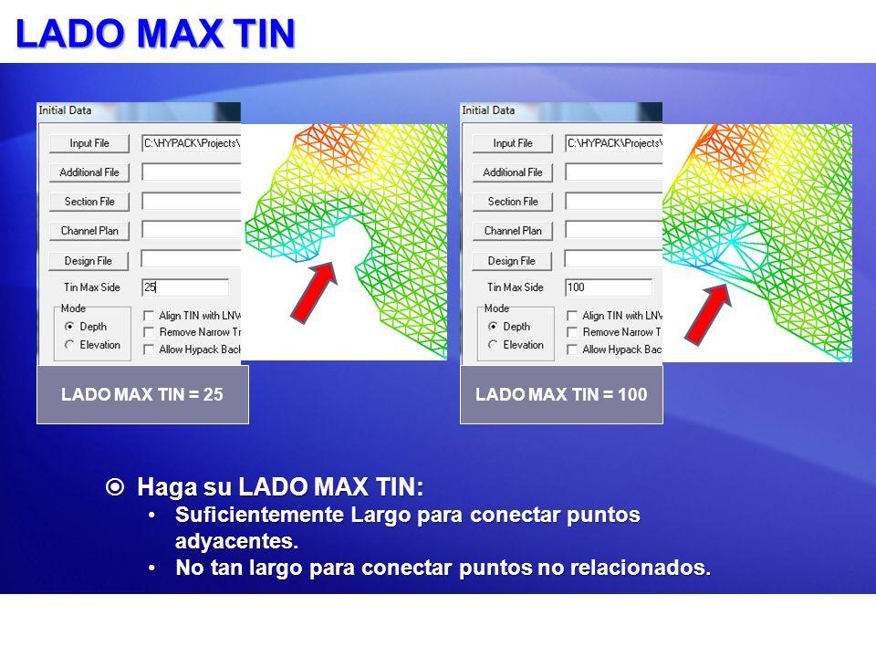 LADO MAX TIN Haga su LADO MAX TIN: Haga su LADO MAX TIN: Suficientemente Largo para conectar puntos adyacentes.Suficientemente Largo para conectar pun