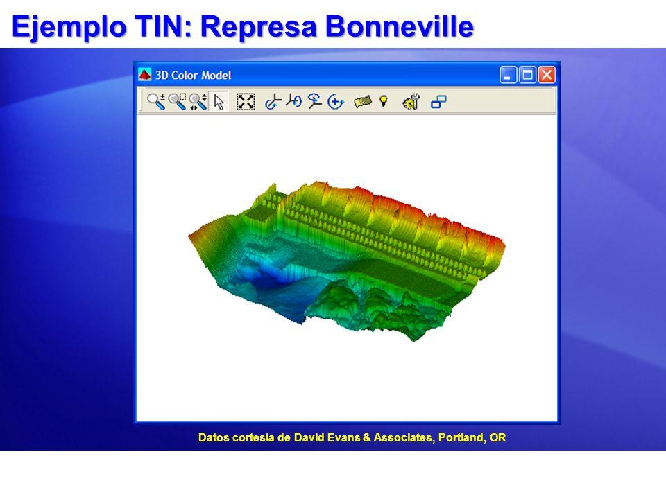 Ejemplo TIN: Represa Bonneville Datos cortesía de David Evans & Associates, Portland, OR