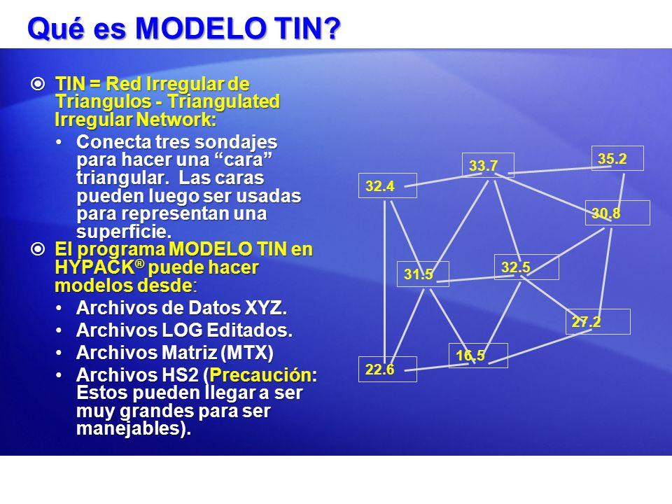 Triángulos Delaunay El programa MODELO TIN normalmente hace TriángulosDelaunay.