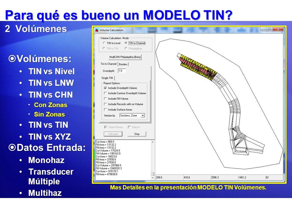 Editando un Modelo Haga clic en Modificar – Edit TIN para examinar, remover y crear triángulos.