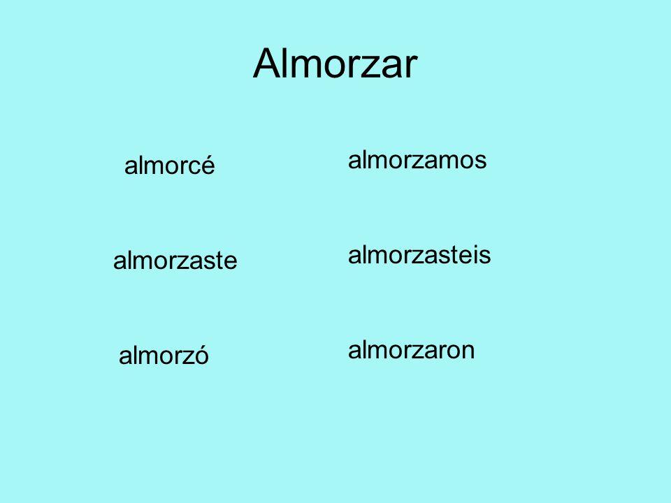 Los Verbos -ER -ER verbs never change in the preterite.