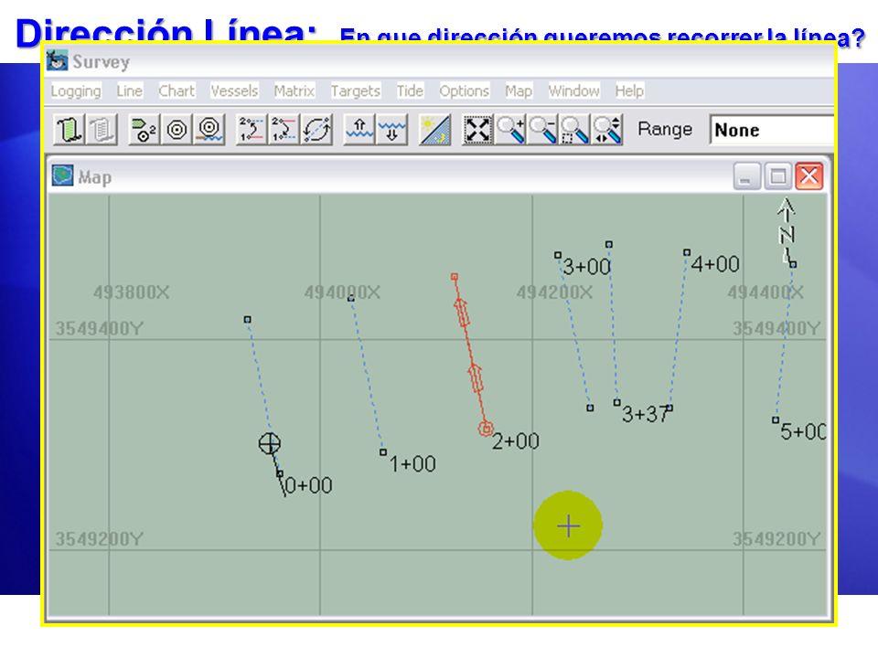 Dirección Línea: En que dirección queremos recorrer la línea? El Modo de Dirección de la Línea por Defecto es definido bajo Opciones- Parámetros Naveg