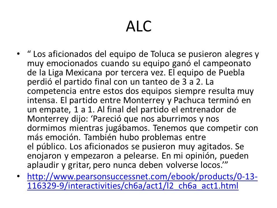 ALC Los aficionados del equipo de Toluca se pusieron alegres y muy emocionados cuando su equipo ganó el campeonato de la Liga Mexicana por tercera vez