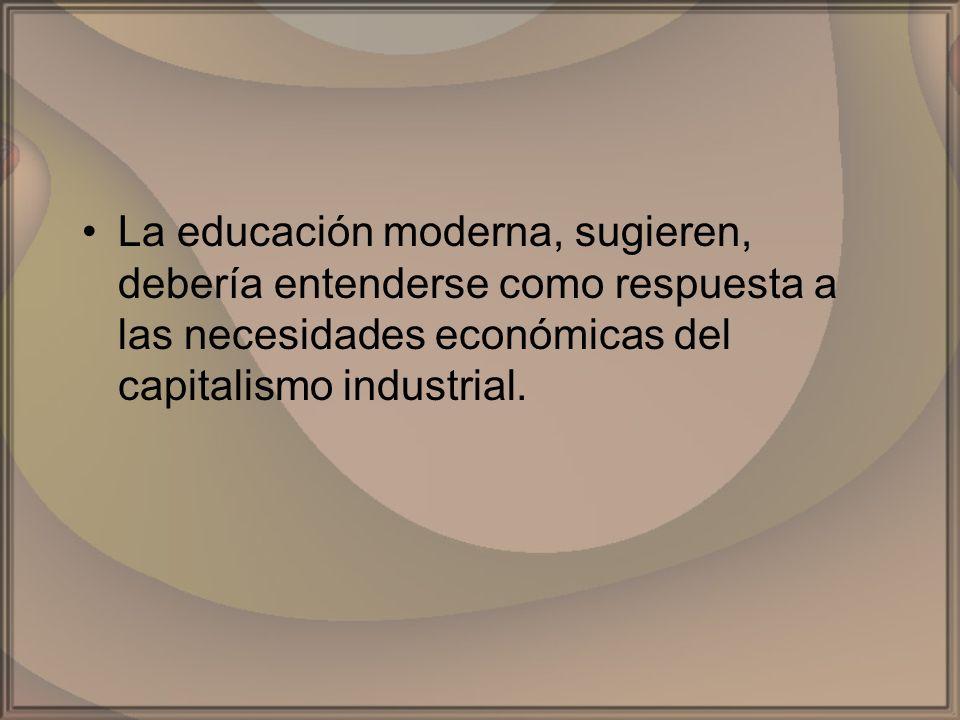 Las relaciones sociales de la educaciónLas relaciones sociales de la educación son una réplica de la división jerárquica del trabajo.