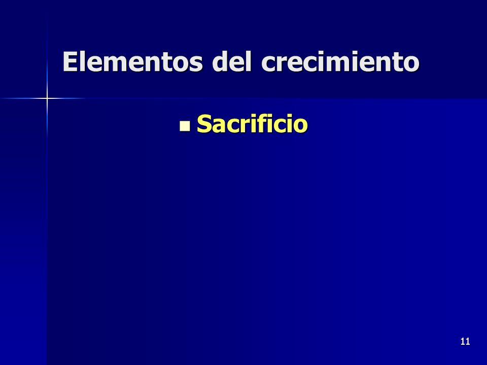 11 Elementos del crecimiento Sacrificio Sacrificio