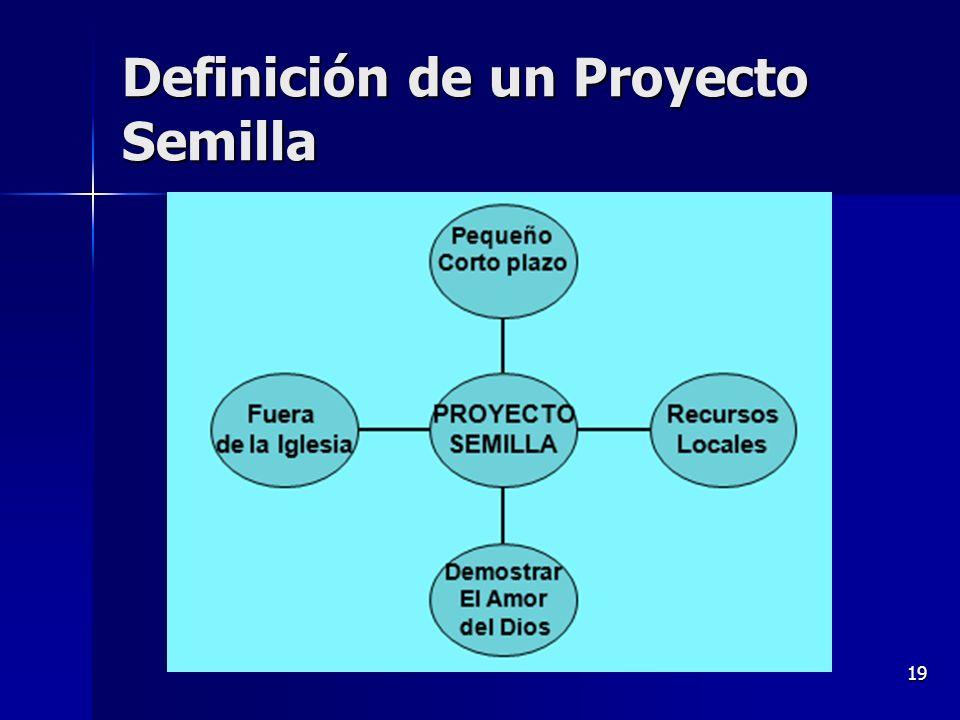 19 Definición de un Proyecto Semilla