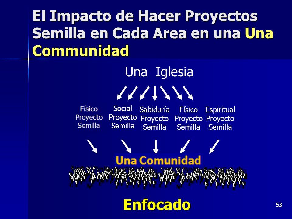53 El Impacto de Hacer Proyectos Semilla en Cada Area en una Una Communidad One Community Physical Seed Project Una Iglesia Espiritual Proyecto Semill