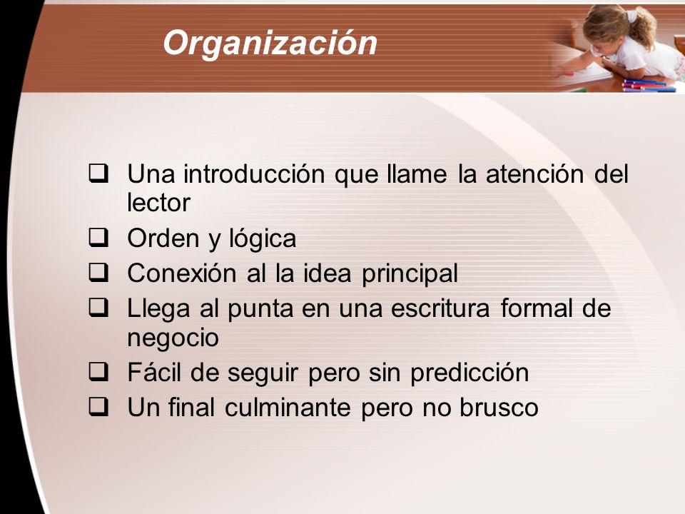 La organización es la estructura interna de una composición.