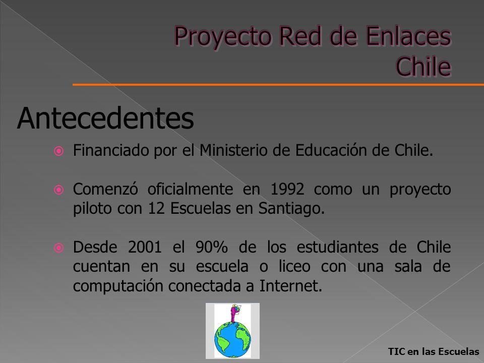 Financiado por el Ministerio de Educación de Chile. Comenzó oficialmente en 1992 como un proyecto piloto con 12 Escuelas en Santiago. Desde 2001 el 90