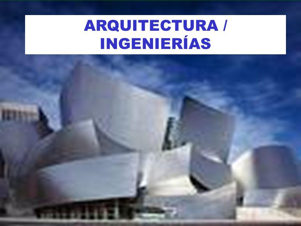 ARQUITECTURA / INGENIERÍAS