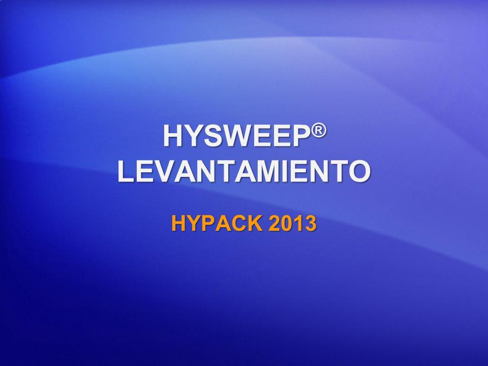 HYSWEEP ® LEVANTAMIENTO HYPACK 2013