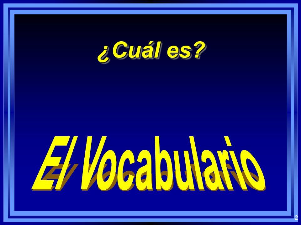 1 Los nombres en español Los nombres en español