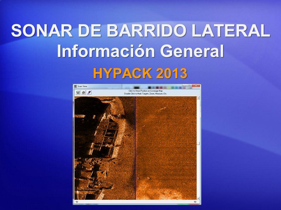 Información General Levantamiento Sonar de Barrido Lateral Un sonar de barrido lateral puede ser usado para una amplia variedad de operaciones de levantamiento.