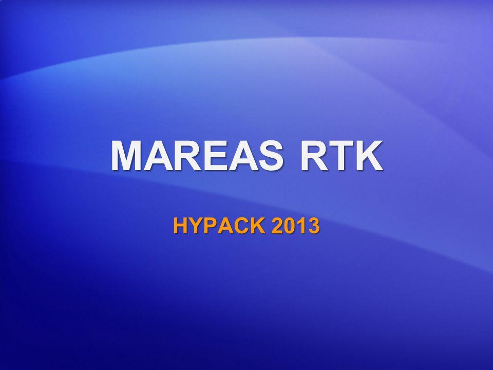 Mareas RTK: (K – N) desde valor del Usuario Nivel del Agua Fondo Datum Cartográfico Elipsoide Ref.