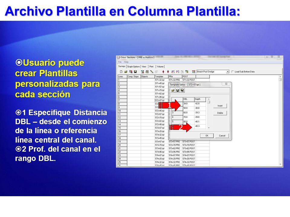 Archivo Plantilla en Columna Plantilla: Usuario puede crear Plantillas personalizadas para cada sección Usuario puede crear Plantillas personalizadas
