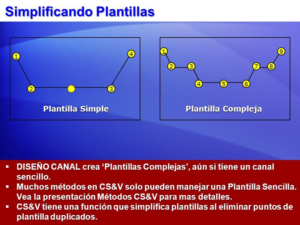 Simplificando Plantillas DISEÑO CANAL crea Plantillas Complejas, aún si tiene un canal sencillo. DISEÑO CANAL crea Plantillas Complejas, aún si tiene