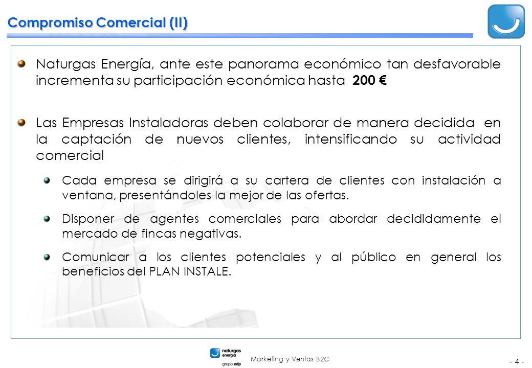 Marketing y Ventas B2C - 4 - Compromiso Comercial (II) Naturgas Energía, ante este panorama económico tan desfavorable incrementa su participación eco