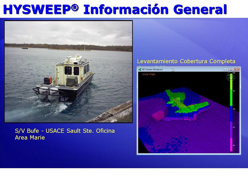 HYSWEEP ® Información General S/V Bufe - USACE Sault Ste. Oficina Area Marie Levantamiento Cobertura Completa de un DC3.
