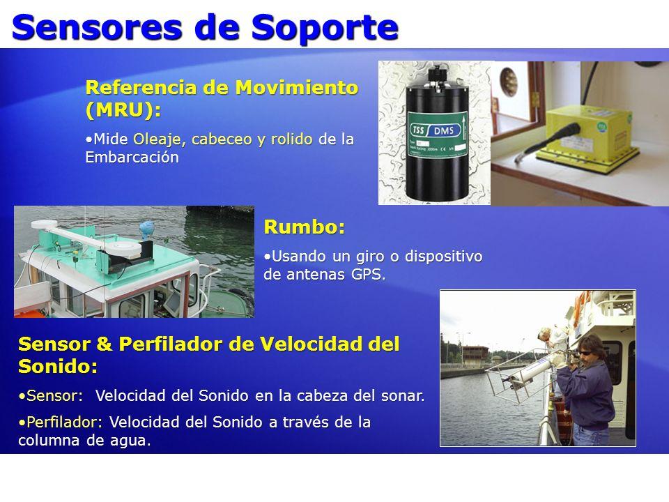Sensores de Soporte Referencia de Movimiento (MRU): Mide Oleaje, cabeceo y rolido de la EmbarcaciónMide Oleaje, cabeceo y rolido de la Embarcación Rum