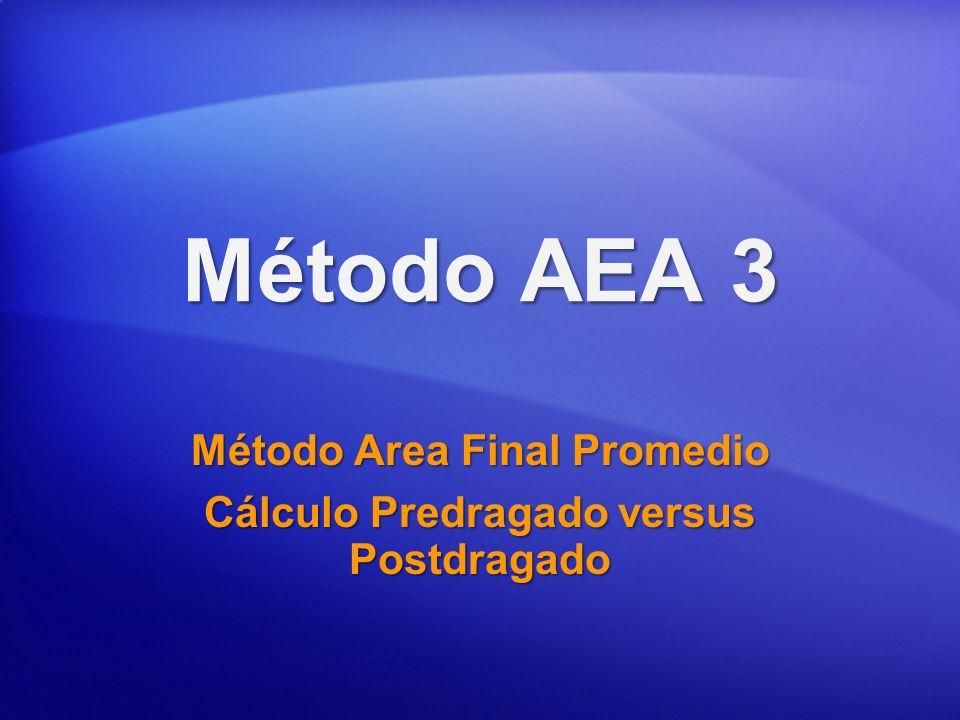 Método AEA 3 Método Area Final Promedio Cálculo Predragado versus Postdragado