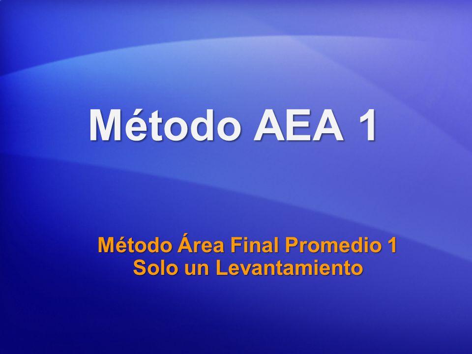 Método AEA 1 Método Área Final Promedio 1 Solo un Levantamiento