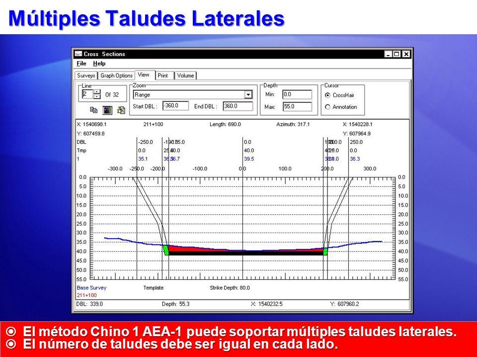 Múltiples Taludes Laterales El método Chino 1 AEA-1 puede soportar múltiples taludes laterales. El método Chino 1 AEA-1 puede soportar múltiples talud