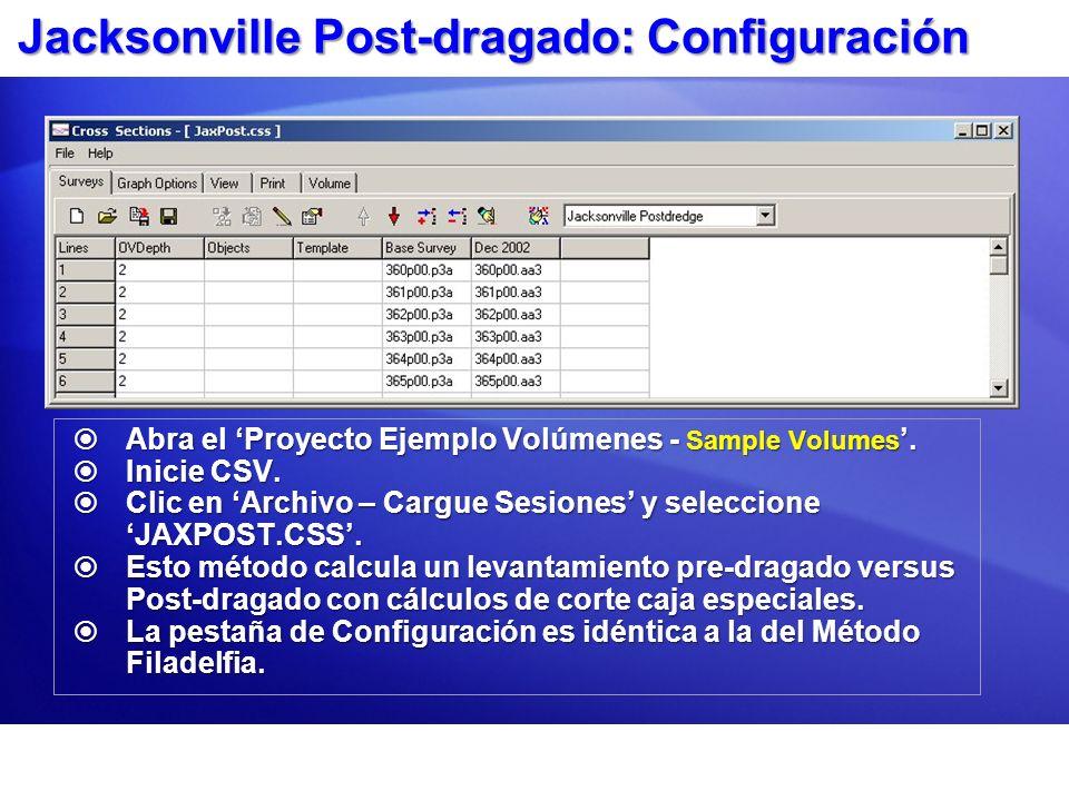 Jacksonville Post-dragado: Configuración Abra el Proyecto Ejemplo Volúmenes - Sample Volumes. Abra el Proyecto Ejemplo Volúmenes - Sample Volumes. Ini