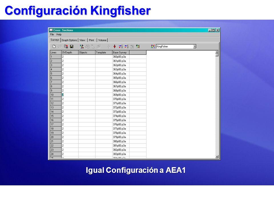 Configuración Kingfisher Igual Configuración a AEA1