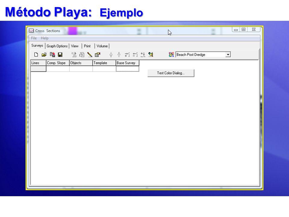 Método Playa: Ejemplo