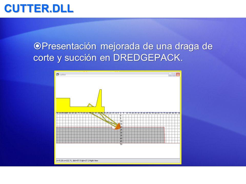 CUTTER.DLL Presentación mejorada de una draga de corte y succión en DREDGEPACK. Presentación mejorada de una draga de corte y succión en DREDGEPACK.