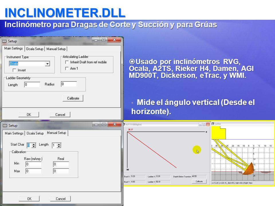INCLINOMETER.DLL Inclinómetro para Dragas de Corte y Succión y para Grúas Usado por inclinómetros RVG, Ocala, A2TS, Rieker H4, Damen, AGI MD900T, Dick