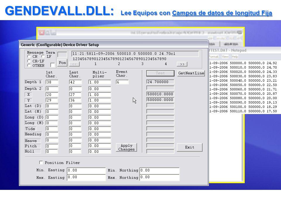 TIDEDR.DLL Lee Archivos de Marea Pronosticada (*.TID) en el levantamiento Lee Archivos de Marea Pronosticada (*.TID) en el levantamiento Configuración Adicional de mareógrafos genéricos.