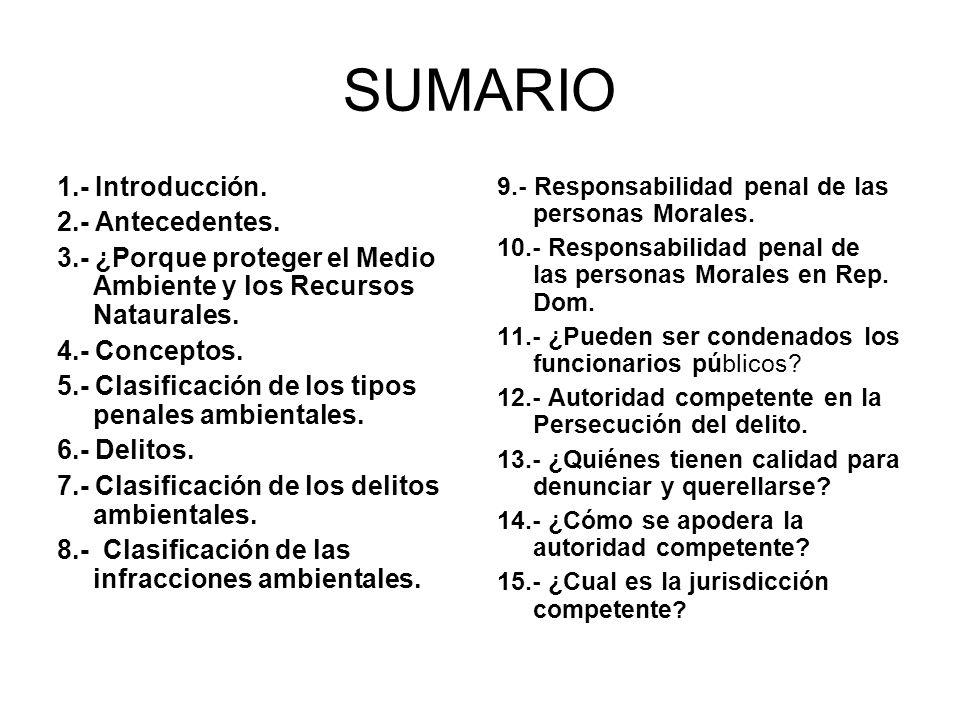 SUMARIO 1.- Introducción. 2.- Antecedentes.