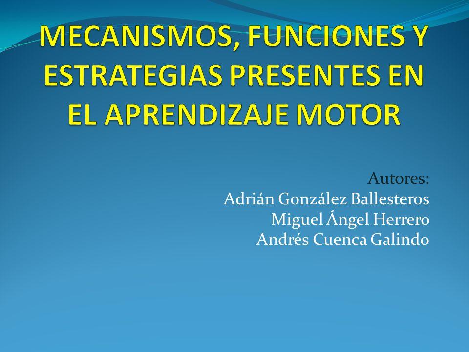 Estrategias metacognitivas Conocimiento metacognitivo es el que los alumnos tienen sobre sus competencias motrices adquiridas.