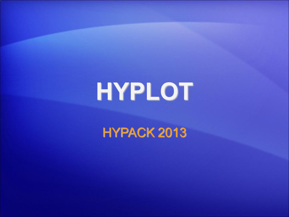 Ploteo Hojas Finales: HYPLOT Interface similar a HYPACK® ®.