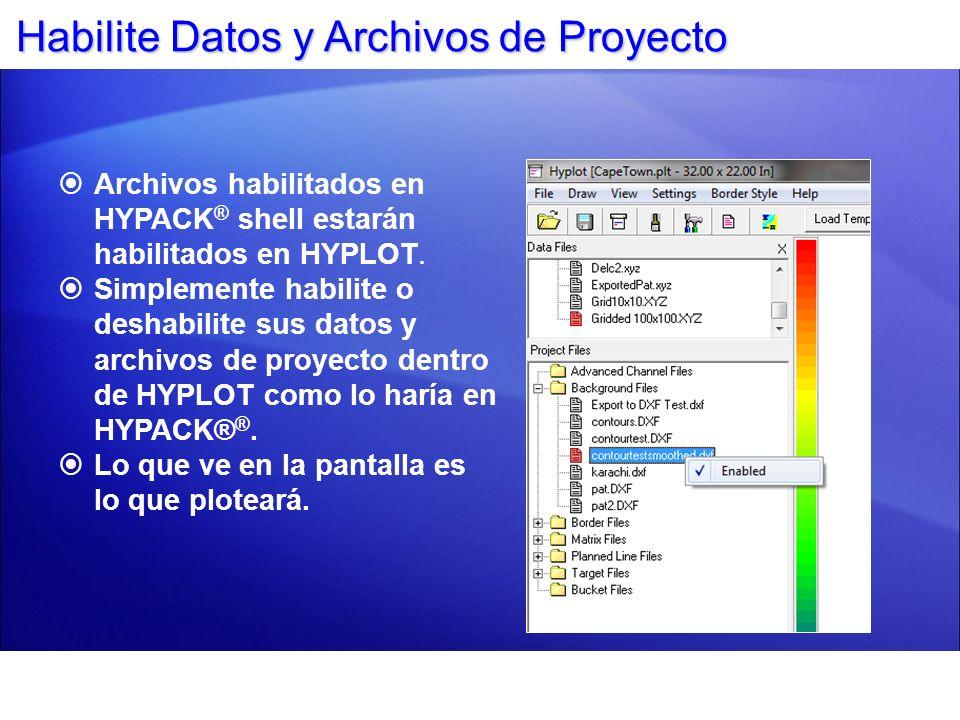 Panel de Control - Importación de Gráficas Puede importar gráficas (BMP y JPG) en HYPLOT.