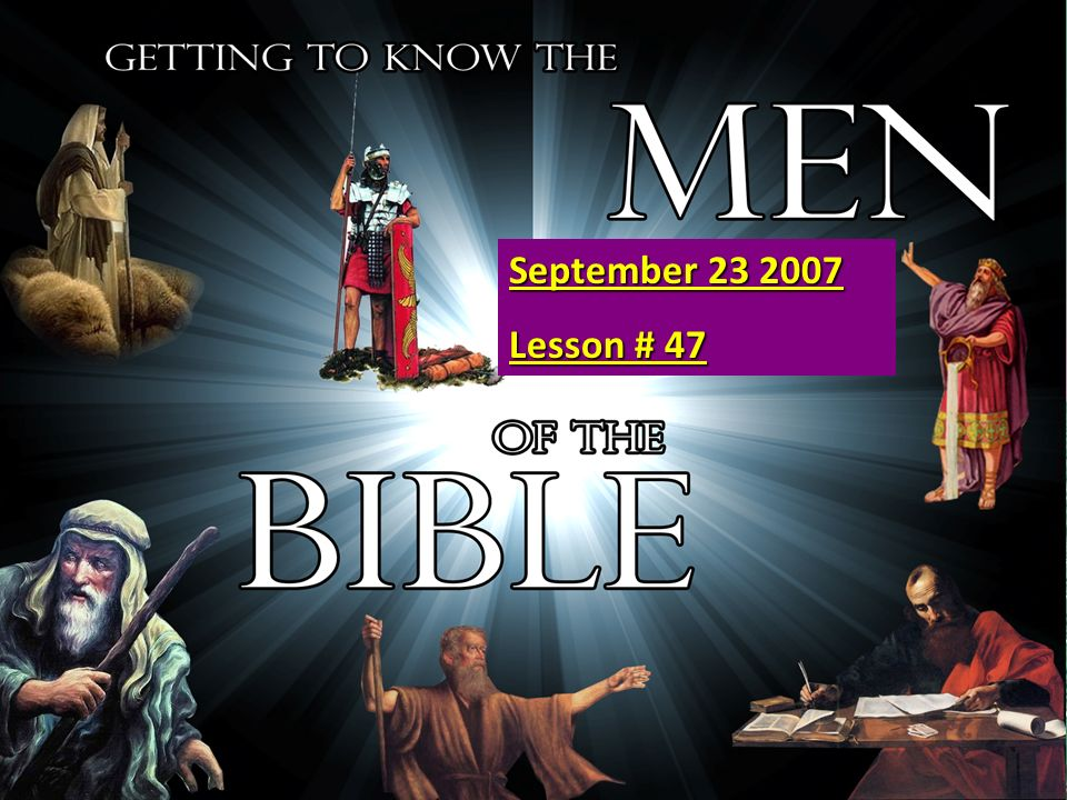 6 1.Adam 16. Moses 31. David part 2. Cain 17.Joshua 32.