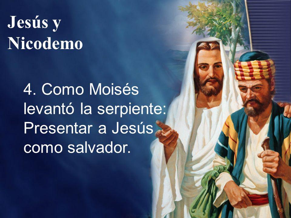 38 4. Como Moisés levantó la serpiente: Presentar a Jesús como salvador. Jesús y Nicodemo