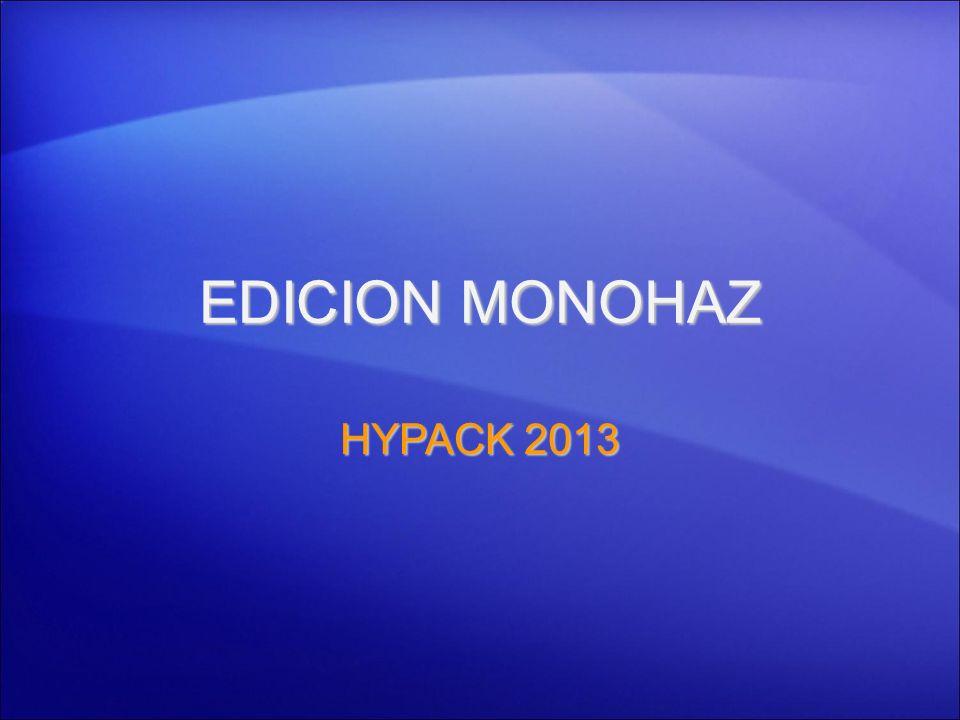 EDICION MONOHAZ HYPACK 2013