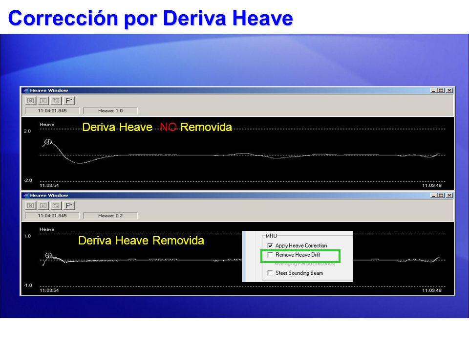 Corrección por Deriva Heave Valores Heave pueden derivar de su centro debido a rápidas aceleraciones o cambios de dirección Deriva Heave NO Removida D
