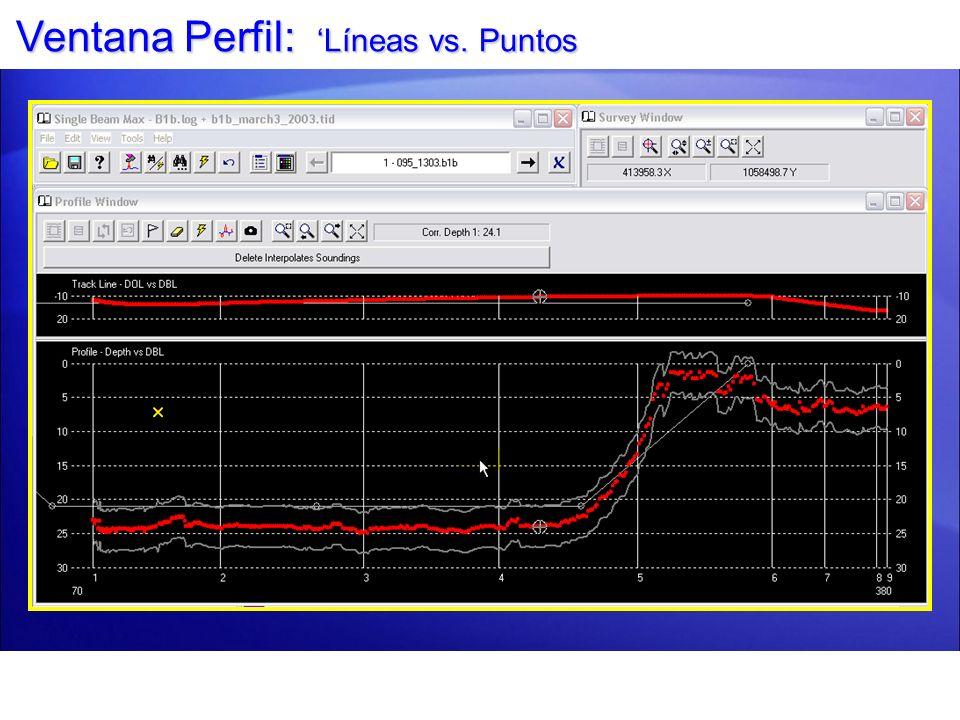 Ventana Perfil: Líneas vs. Puntos