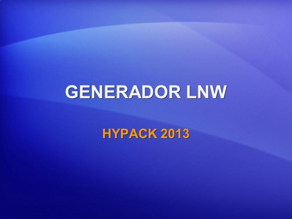 GENERADOR LNW HYPACK 2013