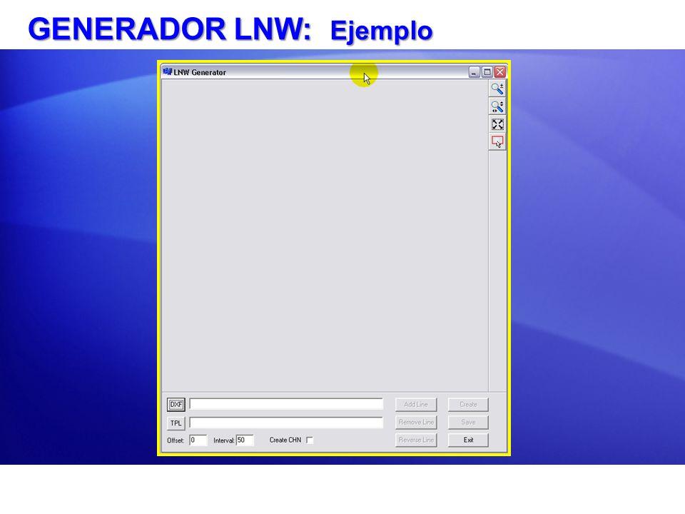 GENERADOR LNW: Ejemplo