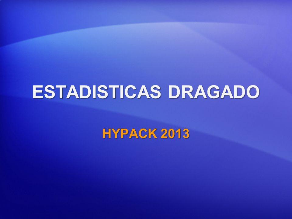 ESTADISTICAS DRAGADO HYPACK 2013