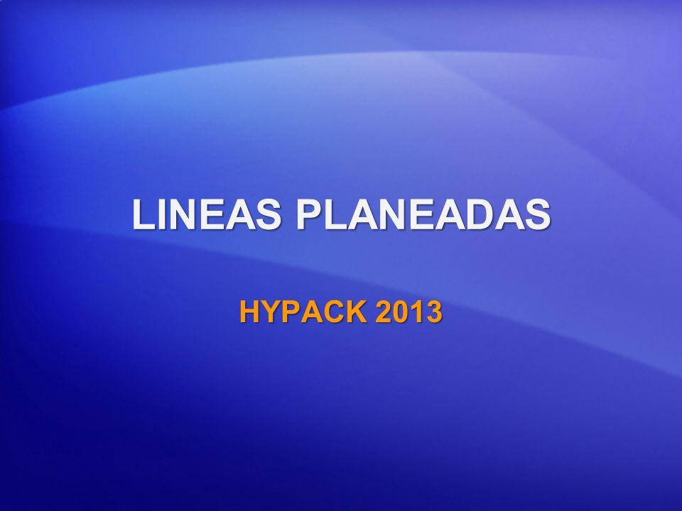 LINEAS PLANEADAS HYPACK 2013