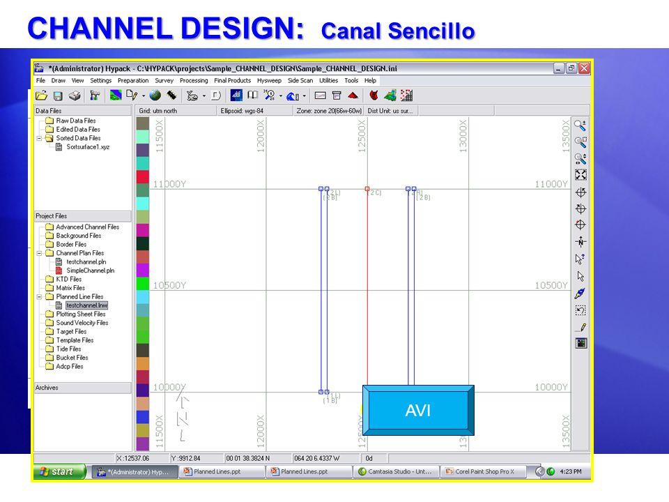 CHANNEL DESIGN: Canal Sencillo AVI