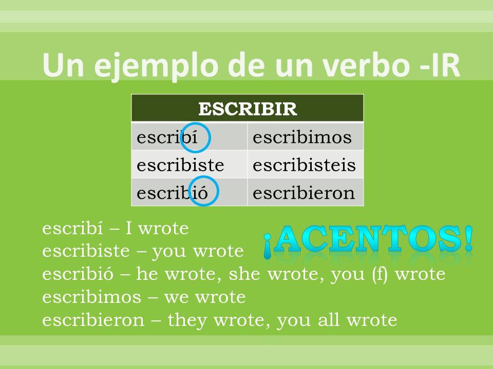 Los verbos más raros del pretérito…