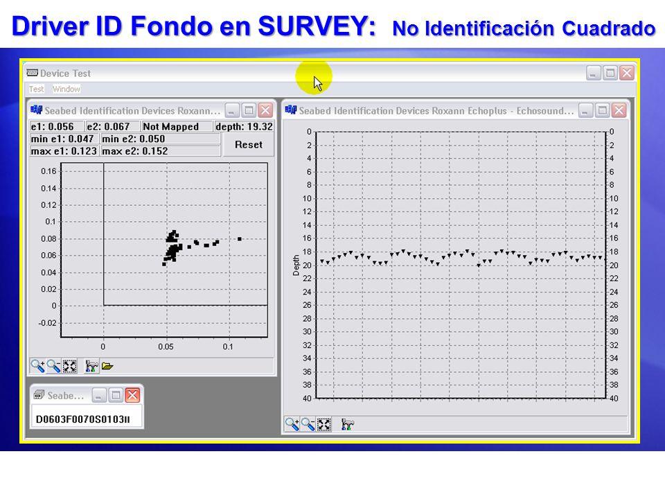 Driver ID Fondo en SURVEY: No Identificación Cuadrado