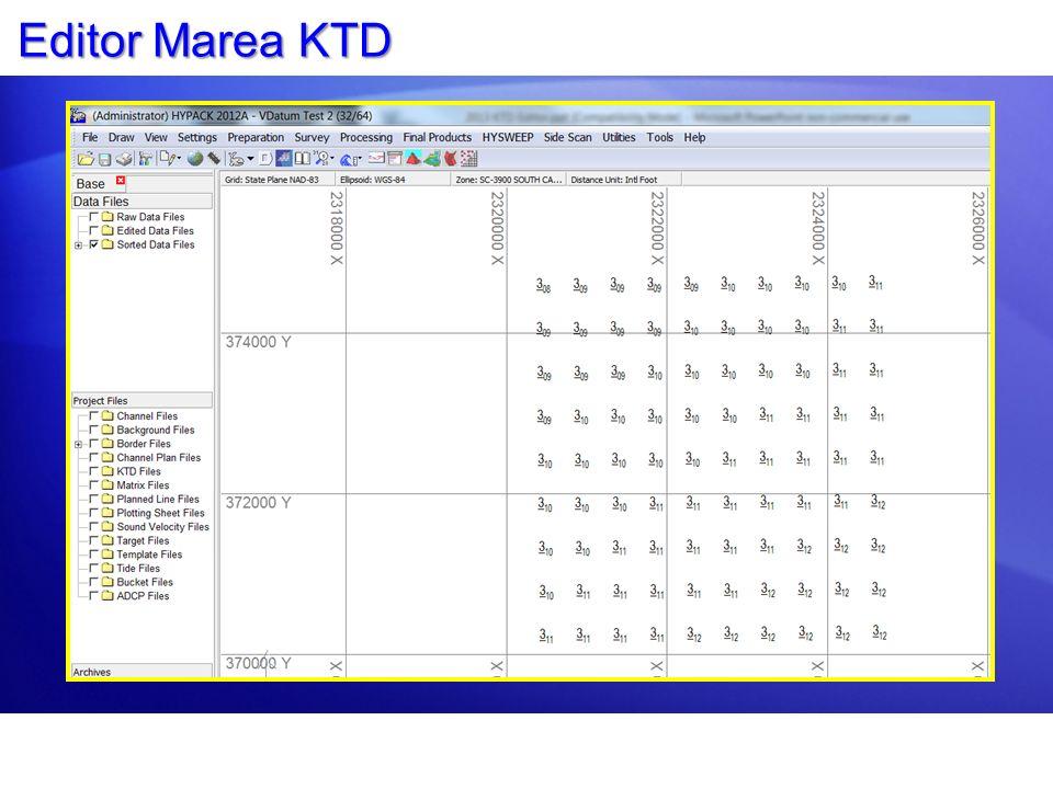Mostrando Valores de KTD Los valores KTD ahora son mostrados en HYPACK SHELL como texto en negro dentro de círculos verdes.