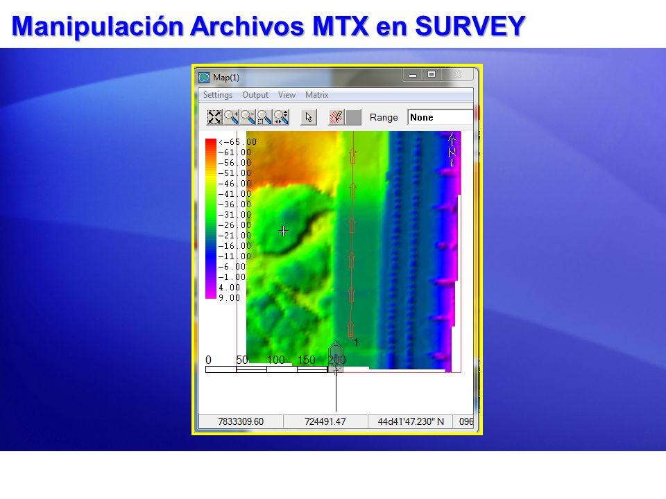 Manipulación Archivos MTX en SURVEY